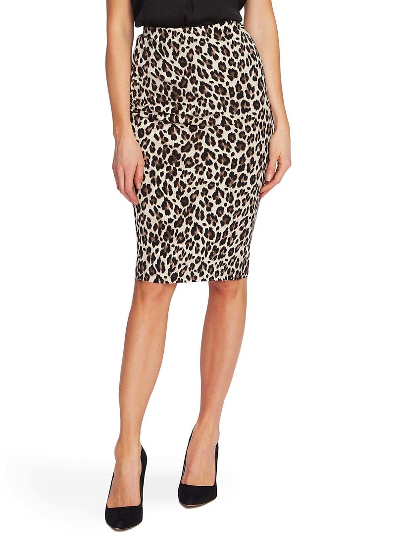 Vince Camuto Leopard Tube Skirt (Regular & Petite)