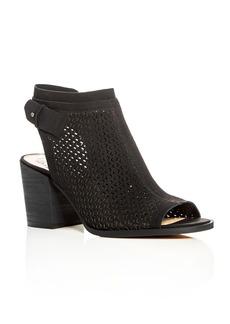 VINCE CAMUTO Lidie Perforated Block Heel Sandals