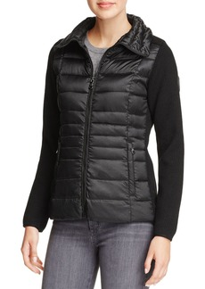 VINCE CAMUTO Lightweight Down & Knit Jacket