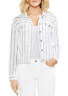 VINCE CAMUTO Lightweight Pinstriped Jacket