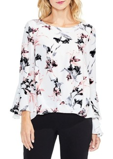 Vince Camuto Lily Melody Bell-Sleeve Foldover Blouse