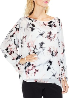 Lily Melody Bubble-Sleeve Tie Cuff Blouse