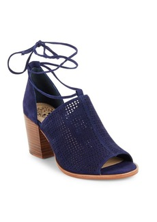 Vince Camuto Lindel Lace-Up Suede Booties