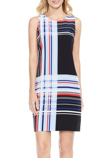 Vince Camuto Linear Graphic Shift Dress (Regular & Petite)
