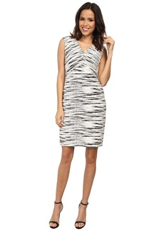 Vince Camuto Linear Jacquard Cap Sleeve Dress