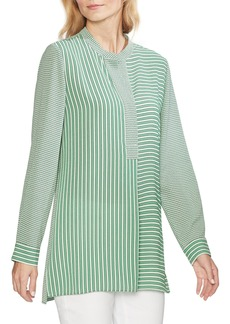 Vince Camuto Linear Motion Print Tunic