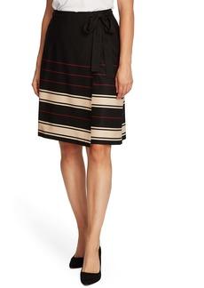 Vince Camuto Linear Plains Faux Wrap Skirt