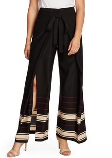 Vince Camuto Linear Plains Wide Leg Pants