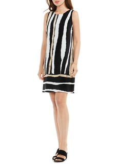Vince Camuto Linear Terrain Shift Dress (Regular & Petite)
