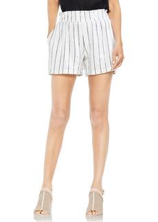 Vince Camuto Linen Blend Stripe Shorts
