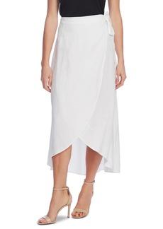 Vince Camuto Linen Faux-Wrap Skirt