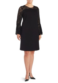 Vince Camuto Plus Long Bell Sleeve Dress