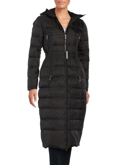 Vince Camuto Long Belted Puffer Coat