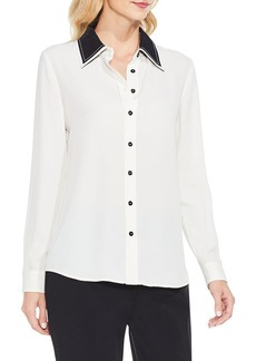 Vince Camuto Long Sleeve Button Down Blouse