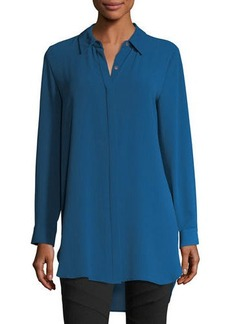 Vince Camuto Long-Sleeve Button-Front Tunic Shirt