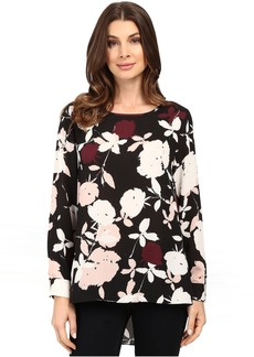 Vince Camuto Long Sleeve Chapel Rose High-Low Blouse