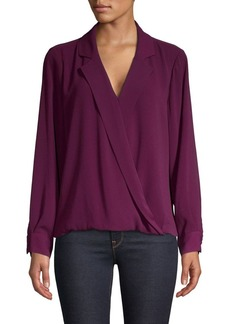 Vince Camuto Long-Sleeve Collared Blouse
