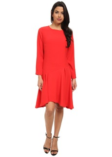 Vince Camuto Long Sleeve Dress w/ Asymmetrical