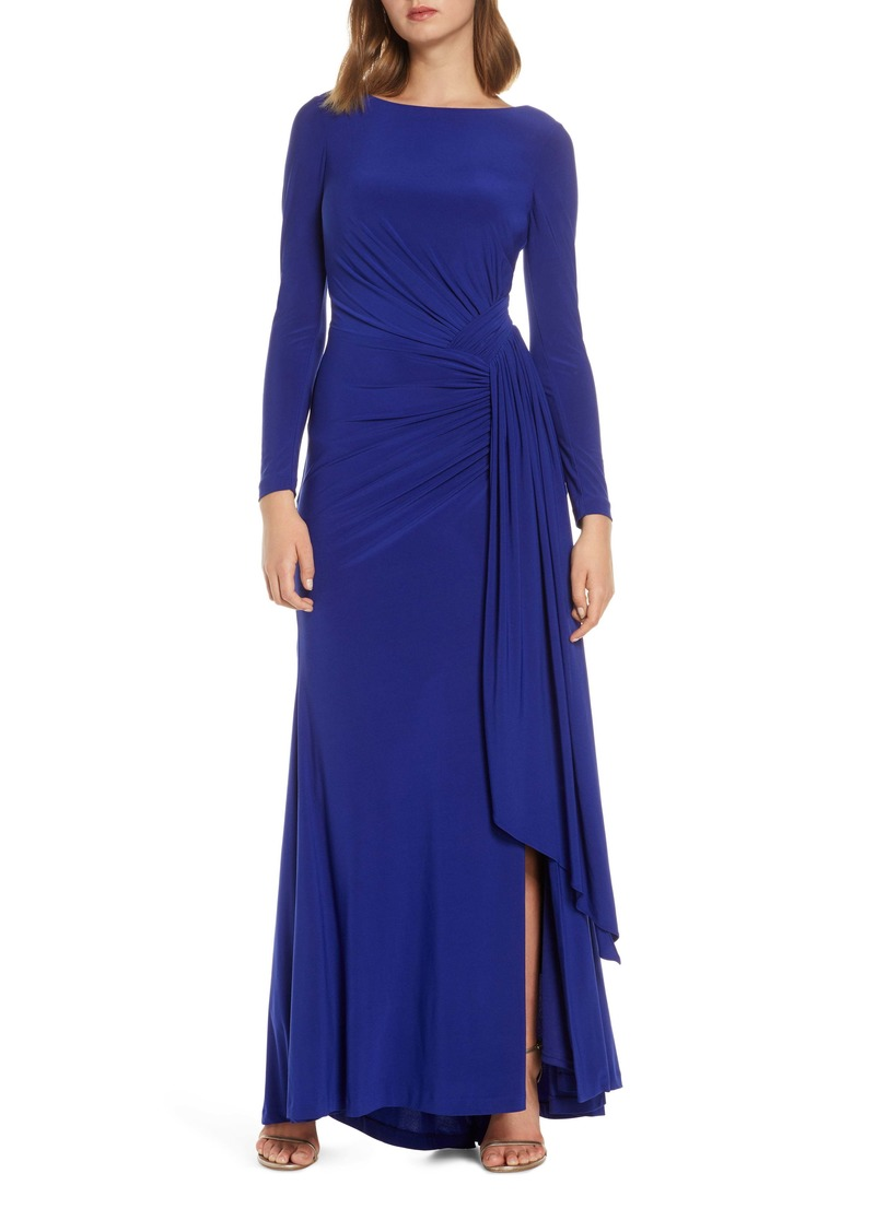 Vince Camuto Long Sleeve Ruched Gown