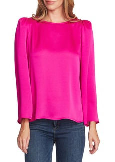Vince Camuto Long Sleeve Satin Blouse