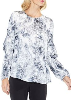 Vince Camuto Long-Sleeve Speckle Atmosphere Blouse