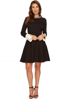 Vince Camuto Long Sleeve Split Cuff Flared Sweater Dress