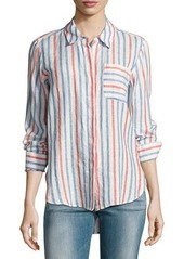 Vince Camuto Long-Sleeve Sporty Striped Shirt