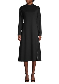 Vince Camuto Long-Sleeve Studded A-Line Dress