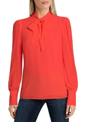 VINCE CAMUTO Long Sleeve Tie Neck Blouse