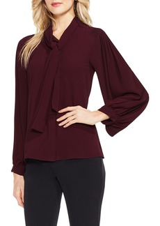 Vince Camuto Long Sleeve Tie-Neck Blouse