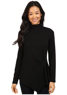Vince Camuto Long Sleeve Turtleneck Side Ruched Top