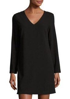 Cynthia Steffe Long-Sleeve V-Neck Shift Dress