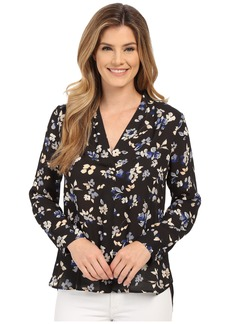 Vince Camuto Long Sleeve Wistful Petals V Shirttail Blouse