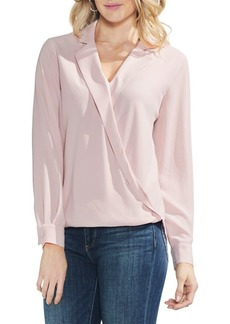 Vince Camuto Long-Sleeve Wrap Blouse