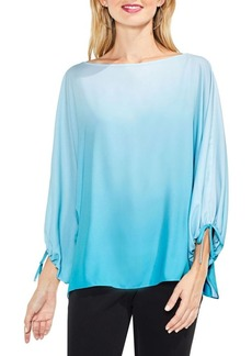 Vince Camuto Long-Sleeves Ombre Echo Tie Cuff Blouse