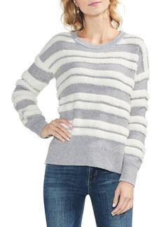 Vince Camuto Loopstripe Crewneck Sweater