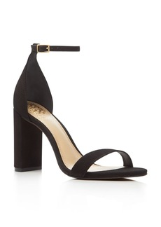 VINCE CAMUTO Mairana Perforated Ankle Strap High Heel Sandals