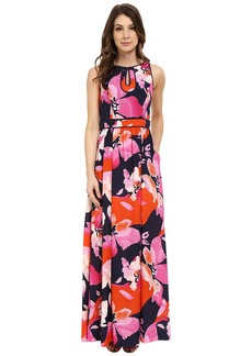 Vince Camuto Maxi with Keyhole Detail and Binding Dress