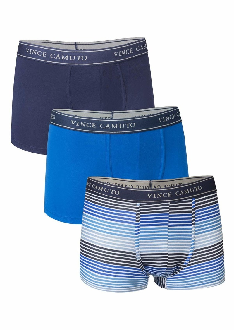 Vince Camuto Men's 3-Pack Cotton Stretch Trunks