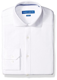 Vince Camuto Men's Slim Fit Performance Dobby Dress Shirt  16 32/33