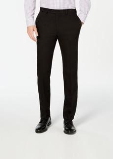 Vince Camuto Men's Slim-Fit Stretch Wrinkle-Resistant Black Solid Suit Pants