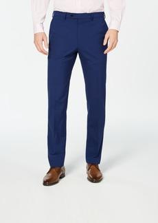Vince Camuto Men's Slim-Fit Stretch Wrinkle-Resistant Blue Check Suit Pants