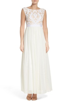Vince Camuto Mesh Gown