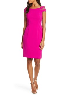 Vince Camuto Mesh Inset Sheath Dress