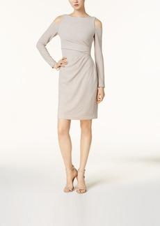 Vince Camuto Metallic Cold-Shoulder Dress