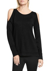Vince Camuto Metallic Knit Cold Shoulder Sweater (Regular & Petite)