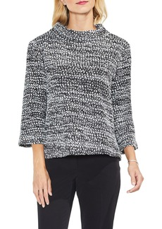 Vince Camuto Metallic Knit Mock Neck Top
