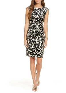 Vince Camuto Metallic Knit Sheath Dress