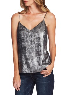 Vince Camuto Metallic Lace Up Back Camisole