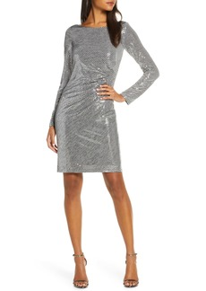Vince Camuto Metallic Long Sleeve Dress